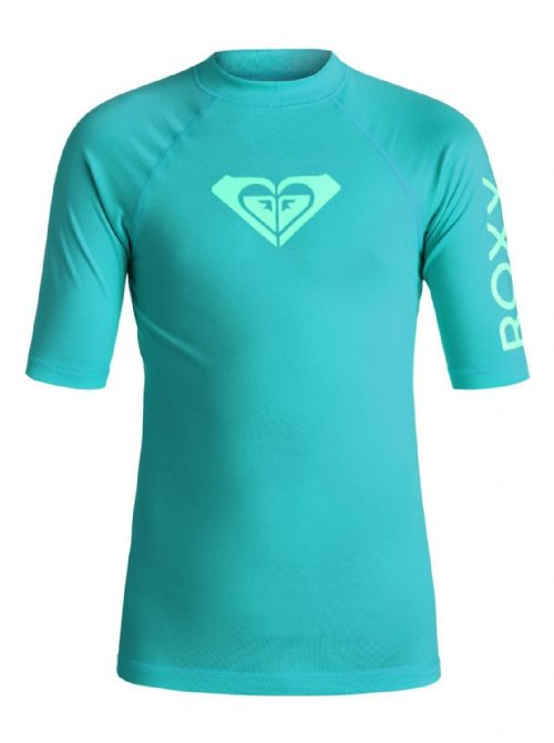 ROXY GIRLS WHOLE HEARTED UPF50+ SUN PROTECTION RASH VEST/TOP T SHIRT 6W/3006/BNY